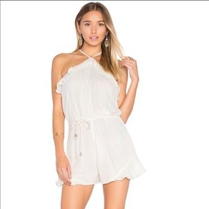 Lovers + friends white romper size XS
